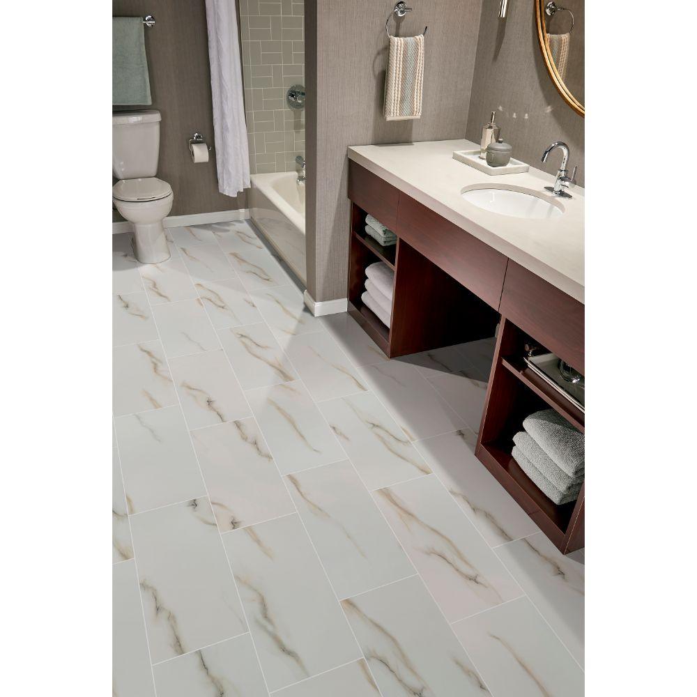 Aria Bianco 12X24 Polished Porcelain Tile