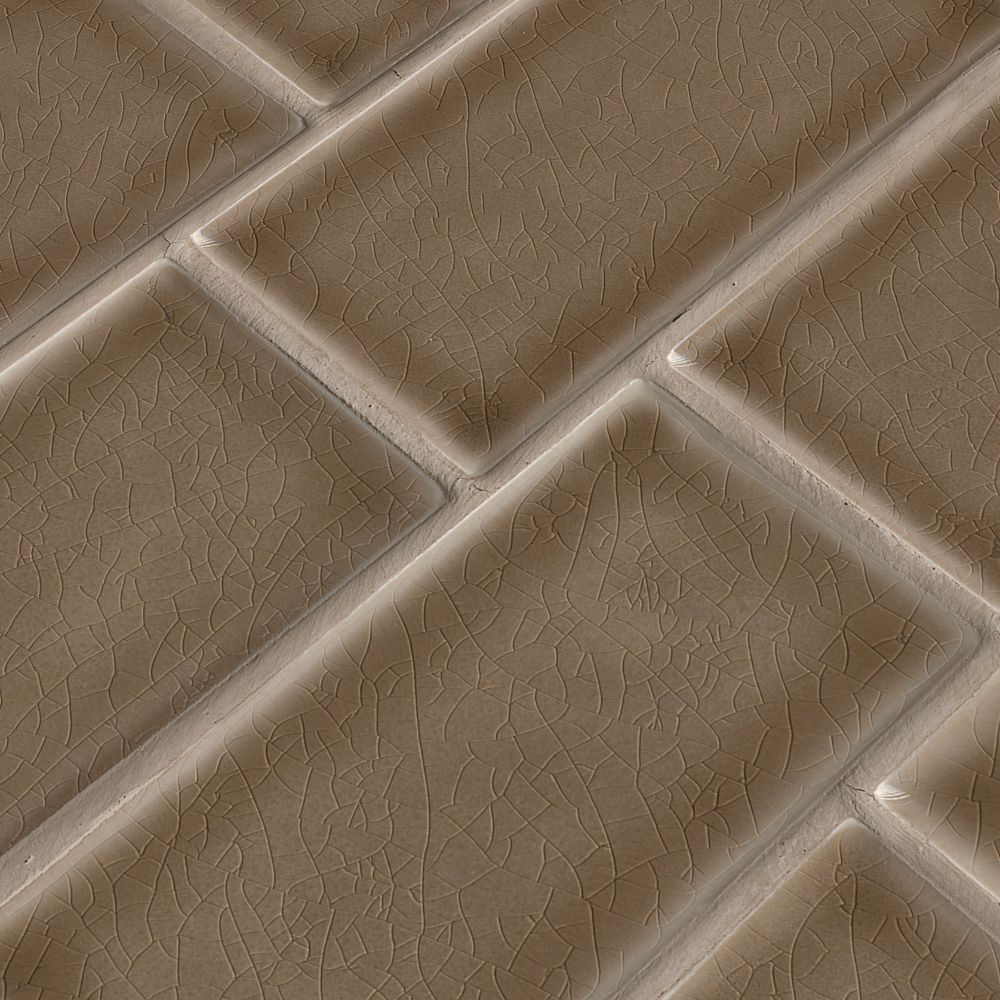Artisan Taupe Handcrafted 3x6 Glossy Subway Tile