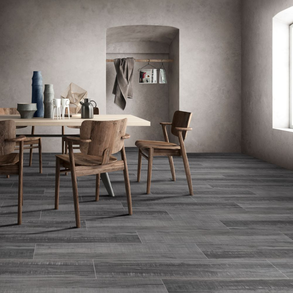 Belmond Mercury 8X40 Grey Matte Ceramic Tile