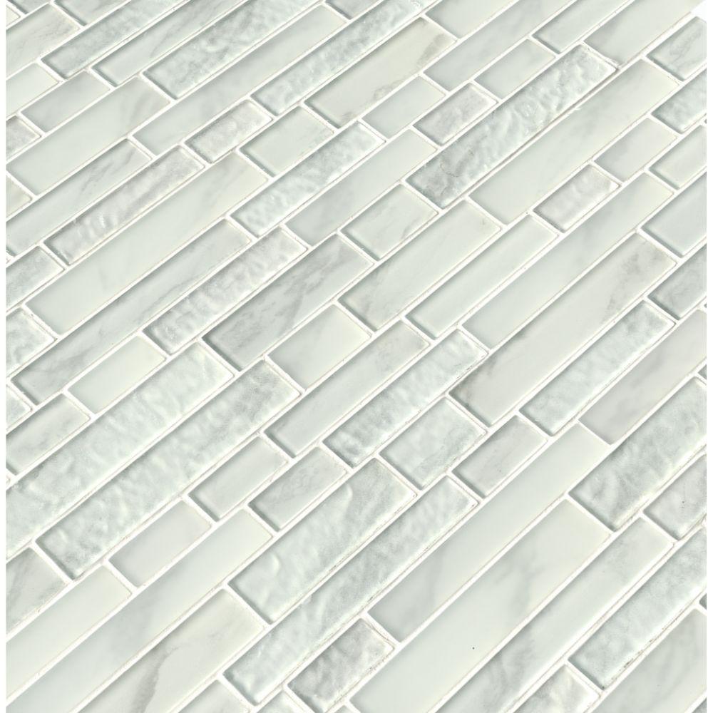 Calypso Interlocking Pattern Inkjet Glass Mosaic