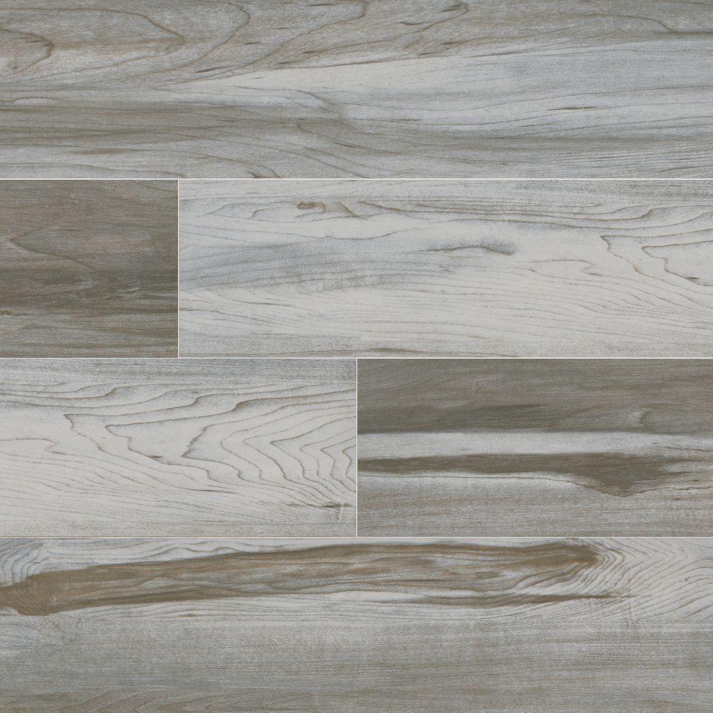 Carolina Timber White 6X36 Matte Ceramic Tile