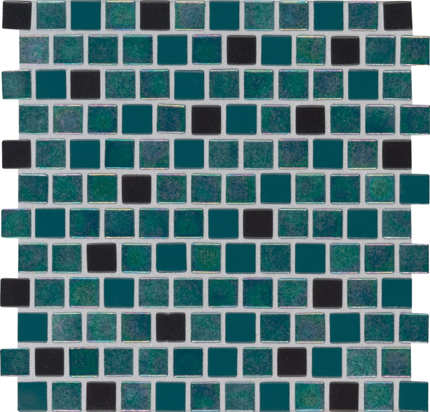 Carribean Mermaid 1X1 Staggered Glass Mosaic