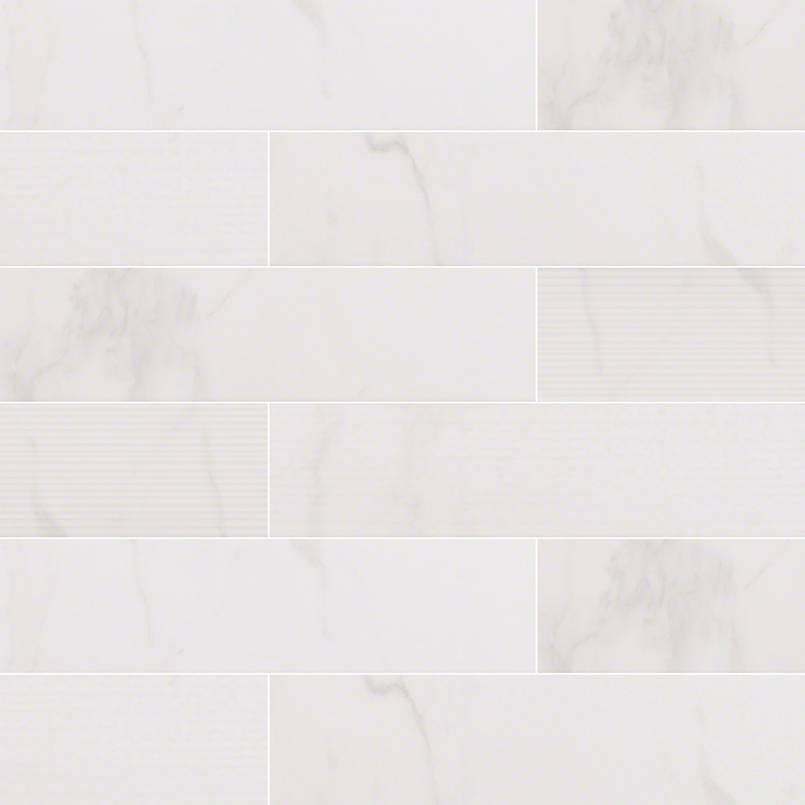 Classique White Calacatta 4X16 Mix Glossy Subway