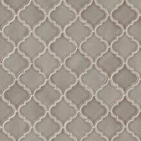 Highland Park Arabesque 10.83X15.5 Ceramic Mosaic Tile in Gray