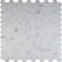 Pietra Carrara 2X2 Hexagon Matte Porcelain Mosaic
