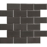 Charcoal 2x4 Bevel Glossy Subway Ceramic Tile