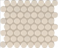 Domino Almond Glossy Penny Round Mosaic