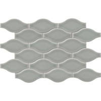 Morning Fog Ogee Pattern 12X12 Glossy