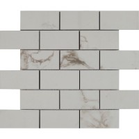 Pietra Statuario 2X4 Polished Mosaic