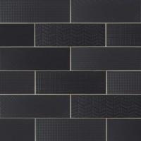 Urbano Ink 3D Mix 4x12 Glossy Ceramic Subway Tile