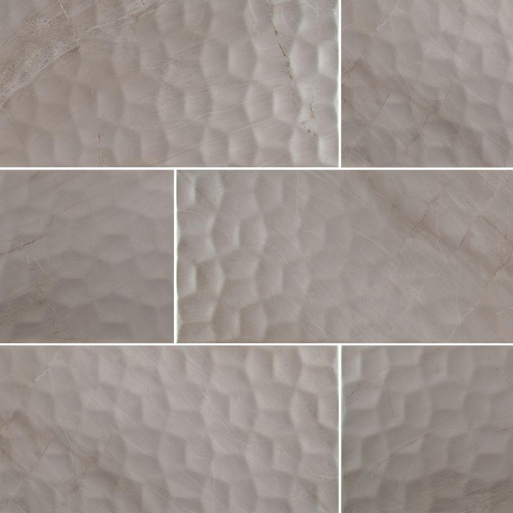 Adella Viso Gris Satin 12X24 Matte Ceramic Tile