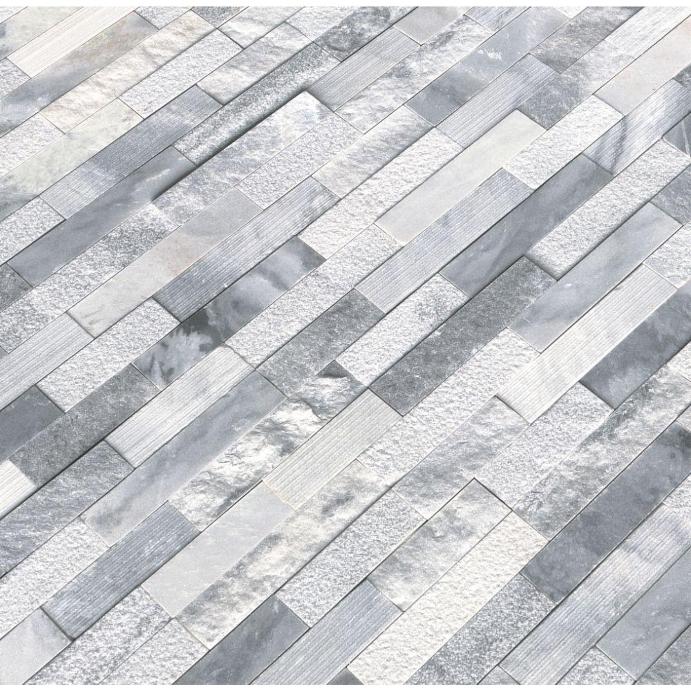 Alaska Gray 6x24 Multi Finish Ledger Panel