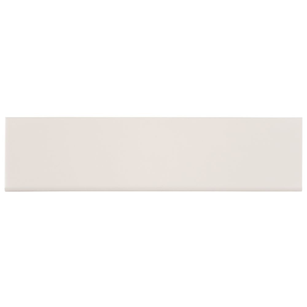 Almond 4X16 Glossy Single Bullnose