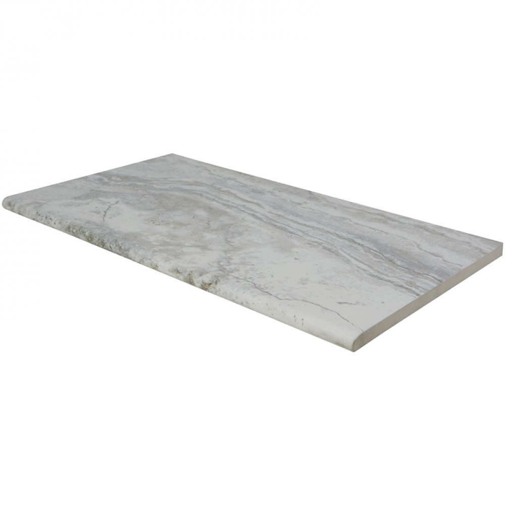 Argento Travertino 13X24 One Long Side Bullnose Pool Coping