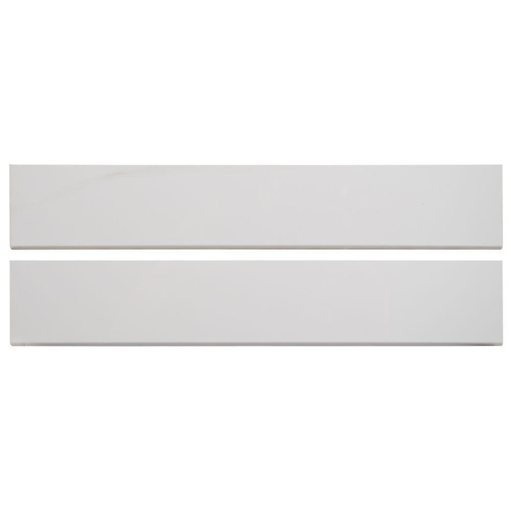 Aria Bianco Bullnose 3X18 Polished Porcelain Tile