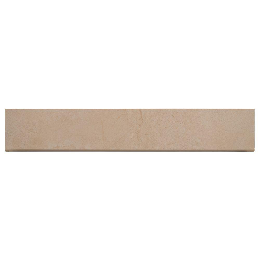 Aria Cremita Bullnose 3X18 Polished Porcelain Tile