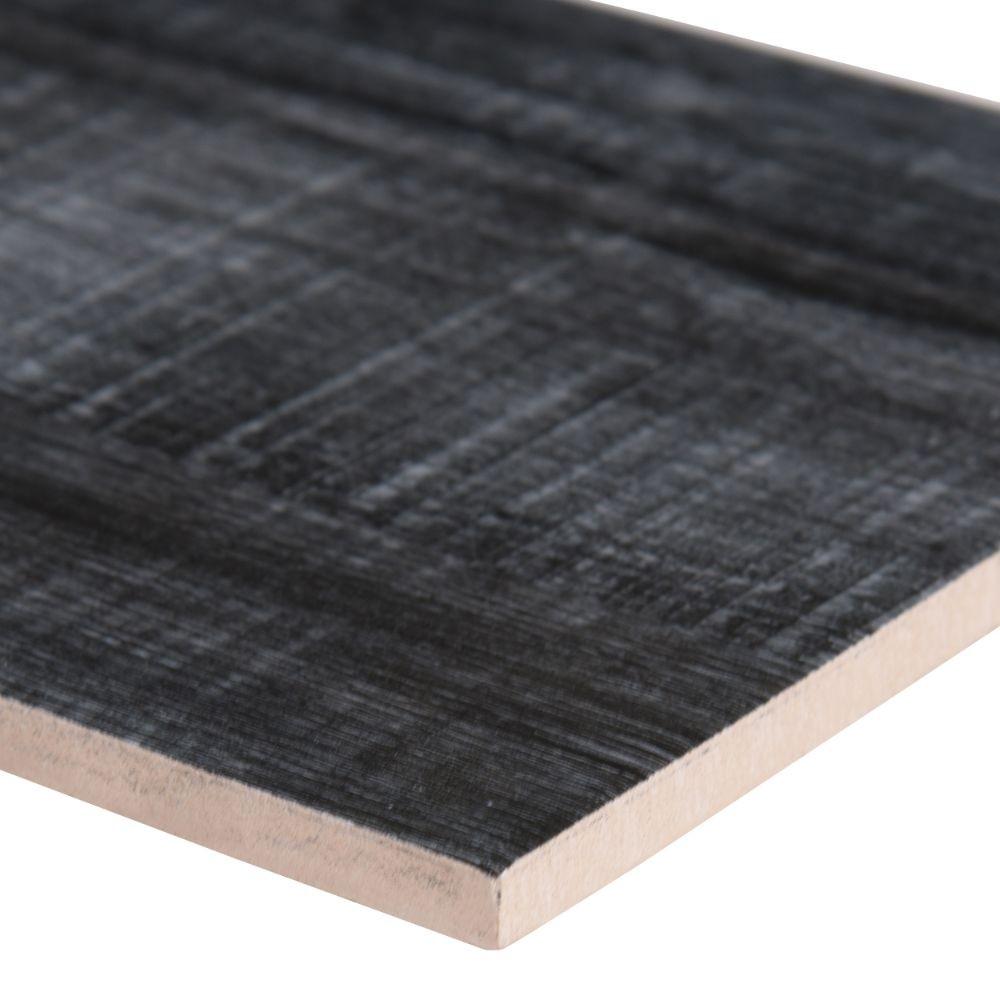 Belmond Obsidian 8X40 Black Matte Ceramic Tile