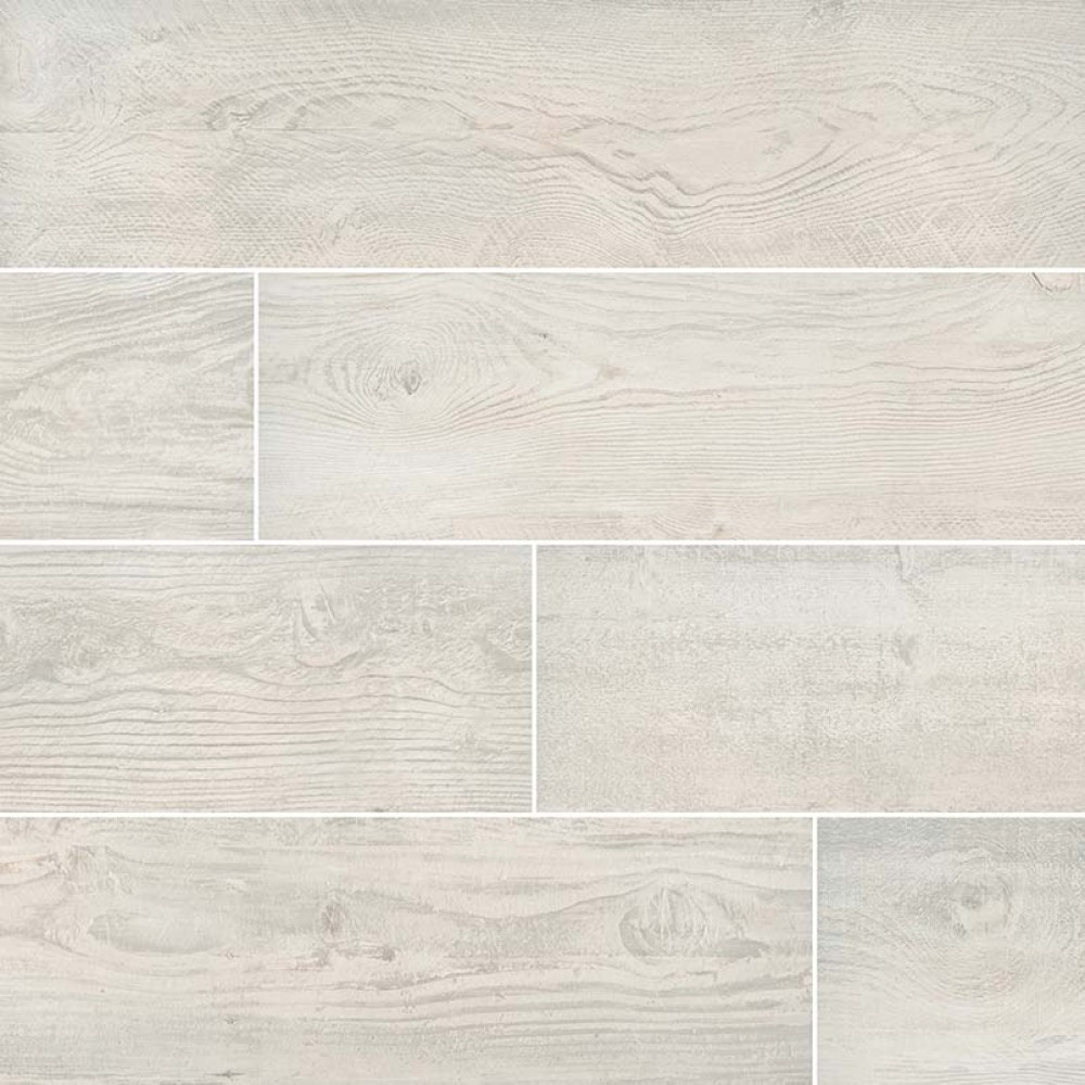 Caldera Blanca 8x47 Wood Look Rectified Matte Porcelain Tile