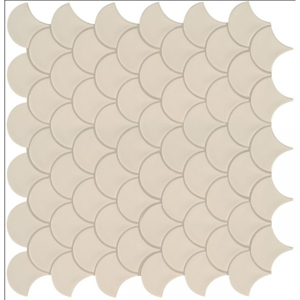 Almond Glossy Fish Scale Mosaic