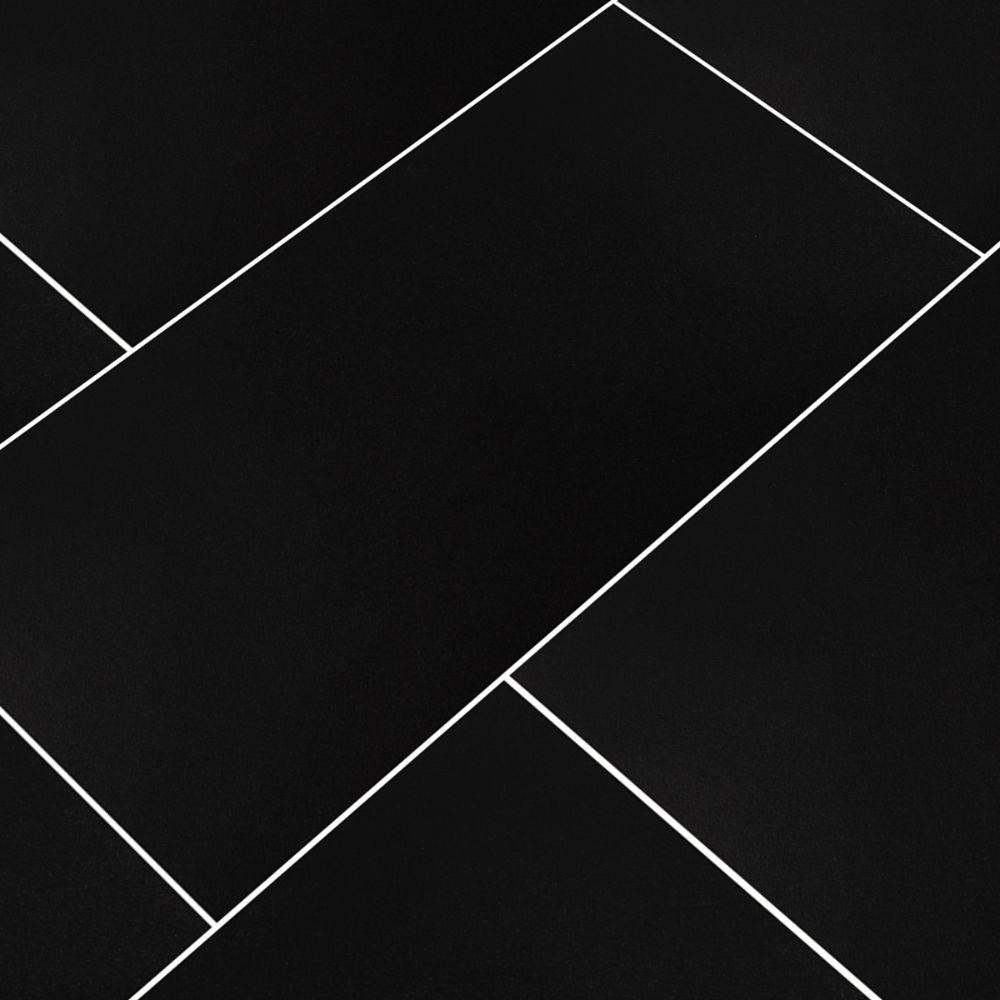 Domino Black 12X24 Matte Porcelain Tile
