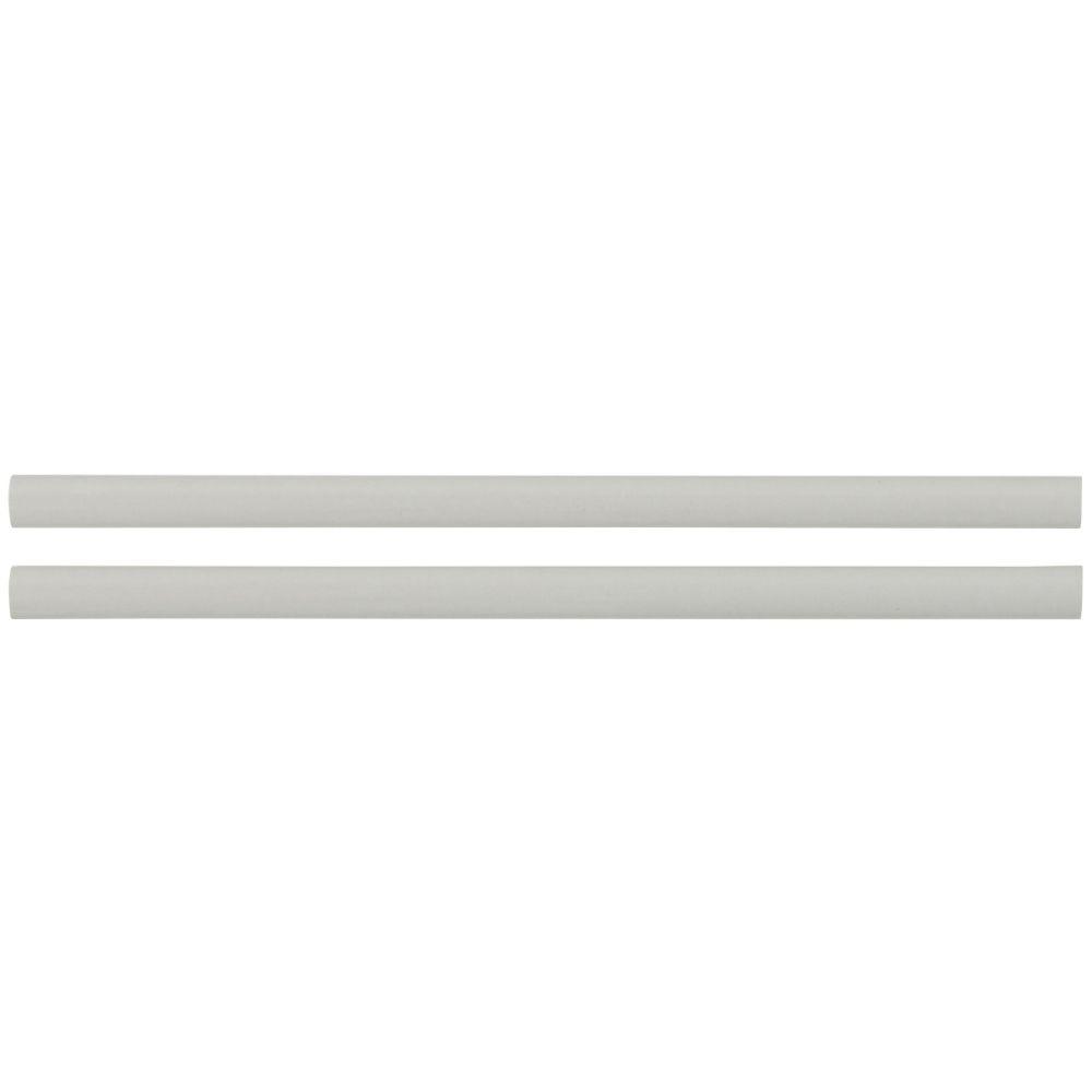 Domino Gray Glossy 1/2x12 Pencil Ceramic Molding