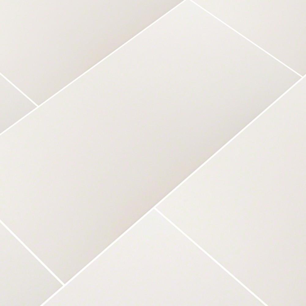 Domino White 12X24 Polished Porcelain Tile