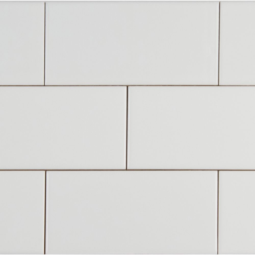 Domino White 4X16 Glossy Subway Tile