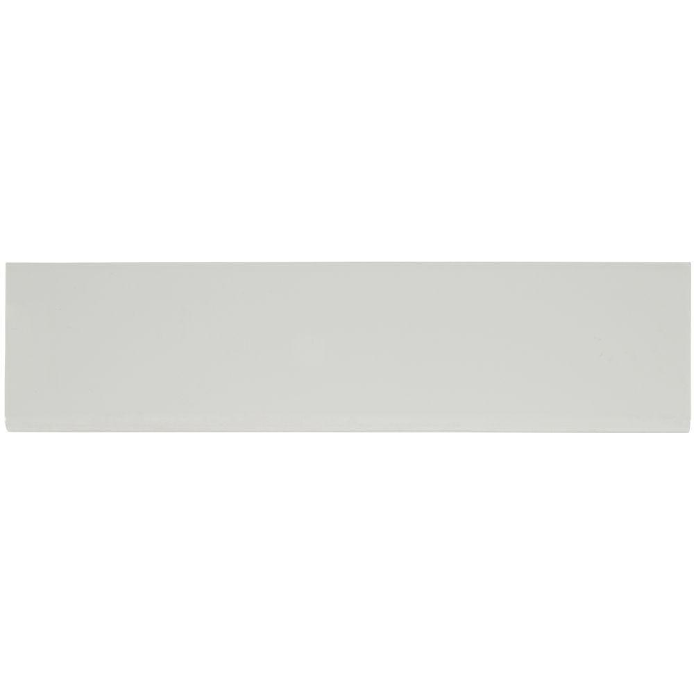 Domino White Glossy 4x16 Single Bullnose Porcelain Tile Usa
