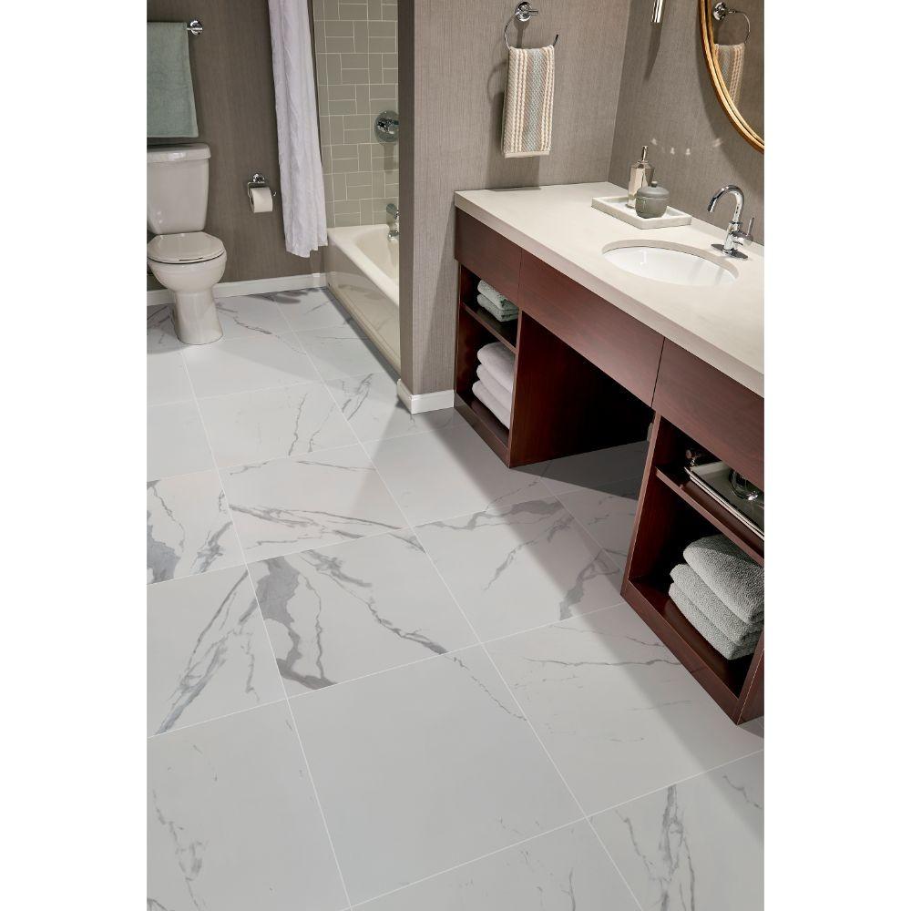 Eden Statuario 24X24 Matte Porcelain Tile