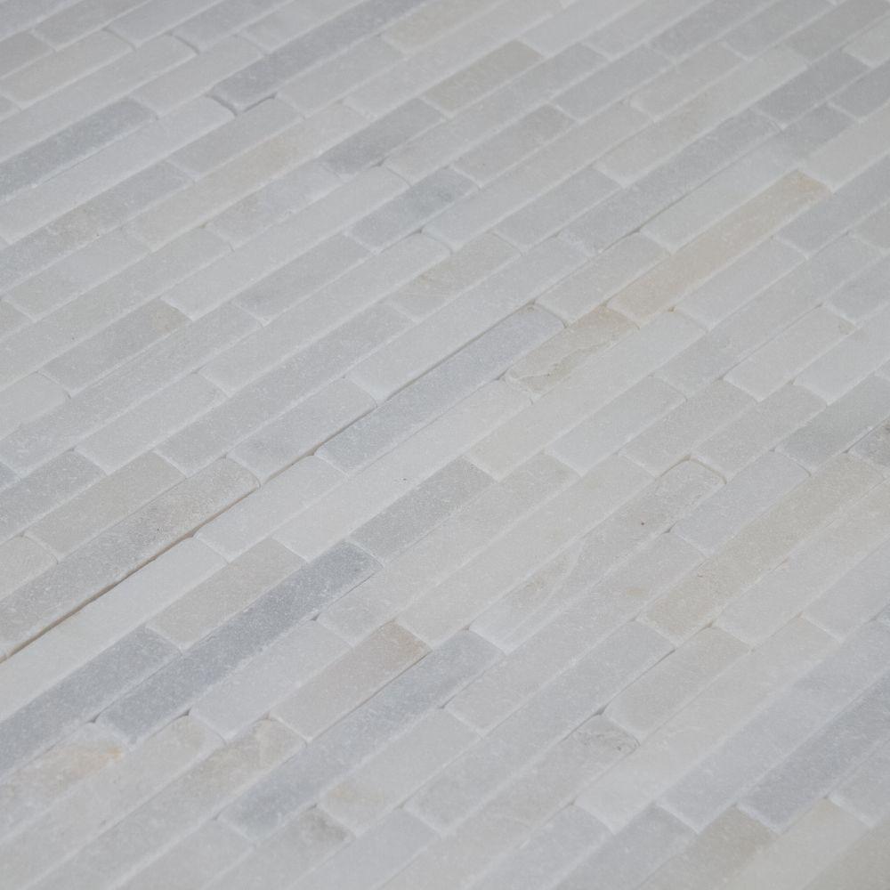 Greecian White 8x18 Tumbled Stone Veneer
