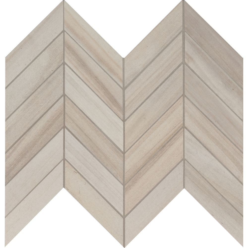 Havenwood Dove 12X15 Matte Chevron Mosaic