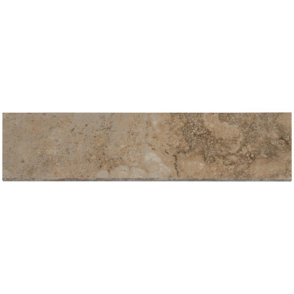 Napa Beige 3X13 Matte Bullnose Ceramic Tile