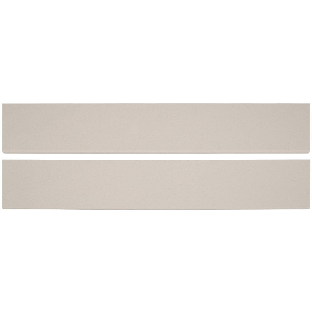 Optima Cream Bullnose 4x24 Polished Porcelain Tile