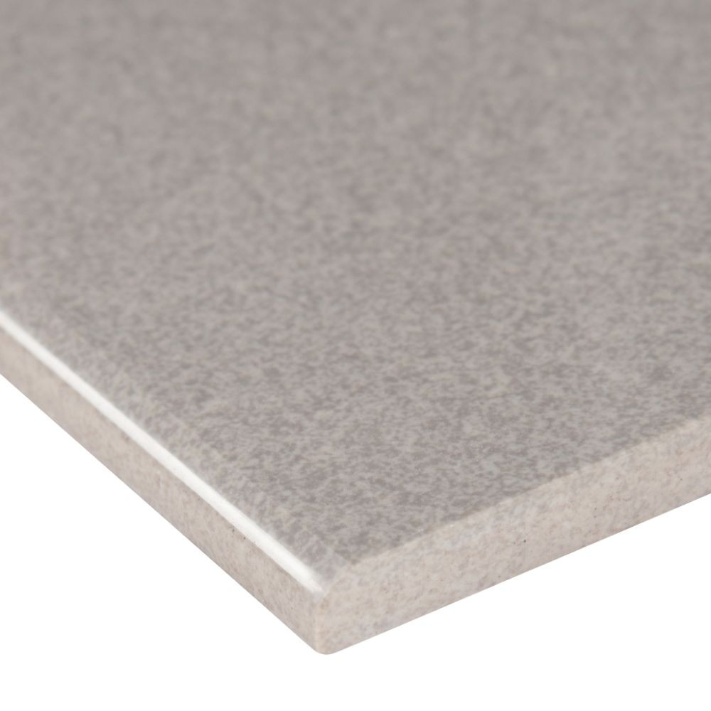 Optima Grey Bullnose 4x24 Polished Porcelain Tile