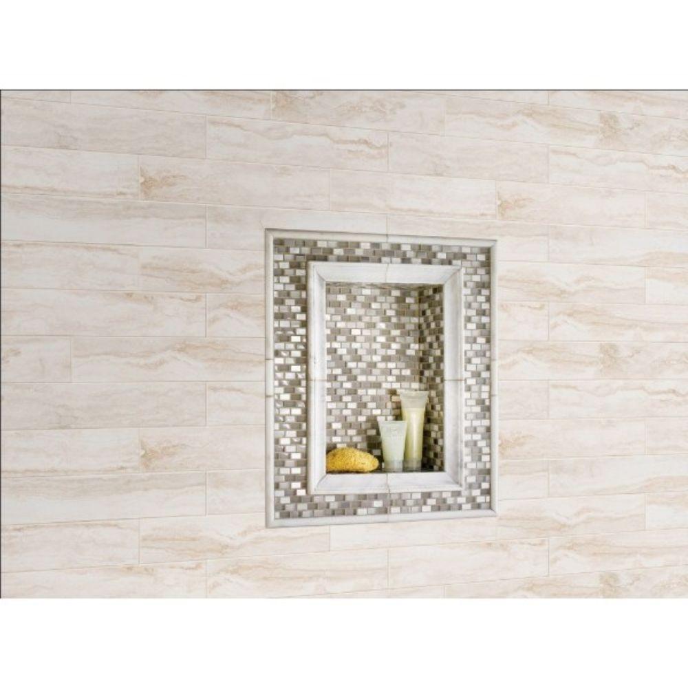Pietra Bernini Bianco 4X18 Matte Porcelain Tile