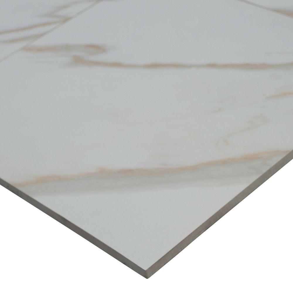 Pietra Calacatta 12x24 Polished Porcelain Tile