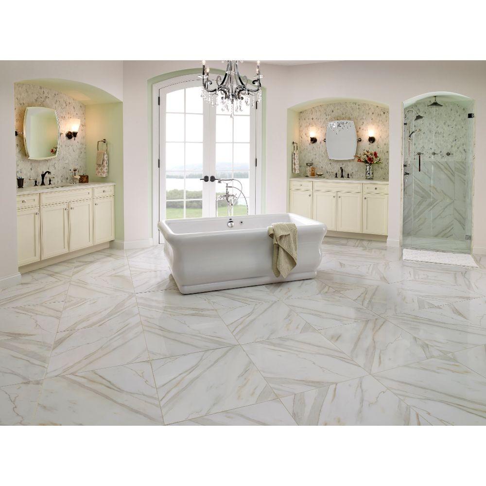 Pietra Calacatta 24X24 Matte Porcelain Tile