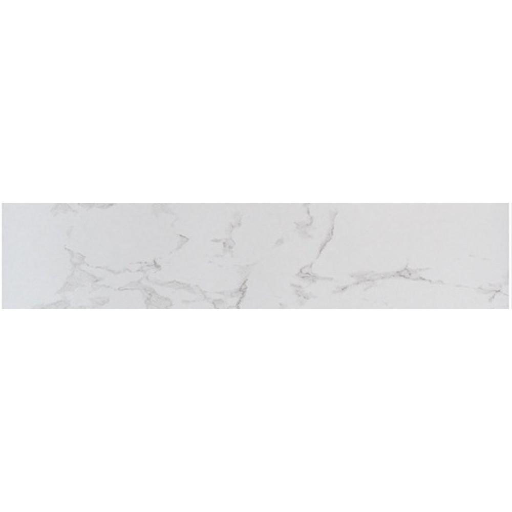 Praia Carrara Matte 3X24 Bullnose Porcelain Tile