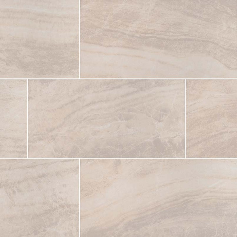 Praia Crema 24X48 Polished Porcelain Tile