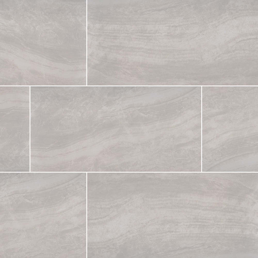 Praia Grey 24X48 Polished Porcelain Tile