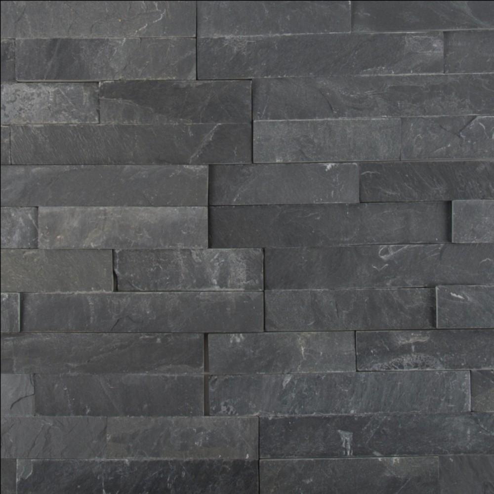 Premium Black 6X24 Split Face Ledger Panel