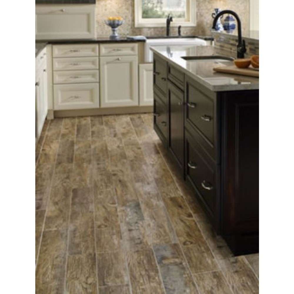 Redwood Natural 6X36 Glazed Porcelain Tile