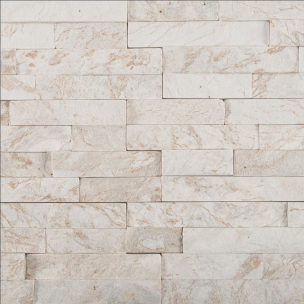 Royal White 6X12X6 Split Face Corner Ledger Panel