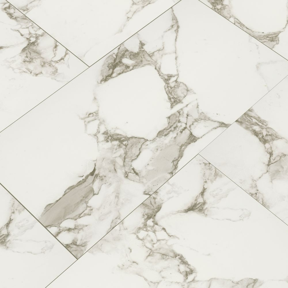 Statuario White 16X32 Matte Porcelain Tile
