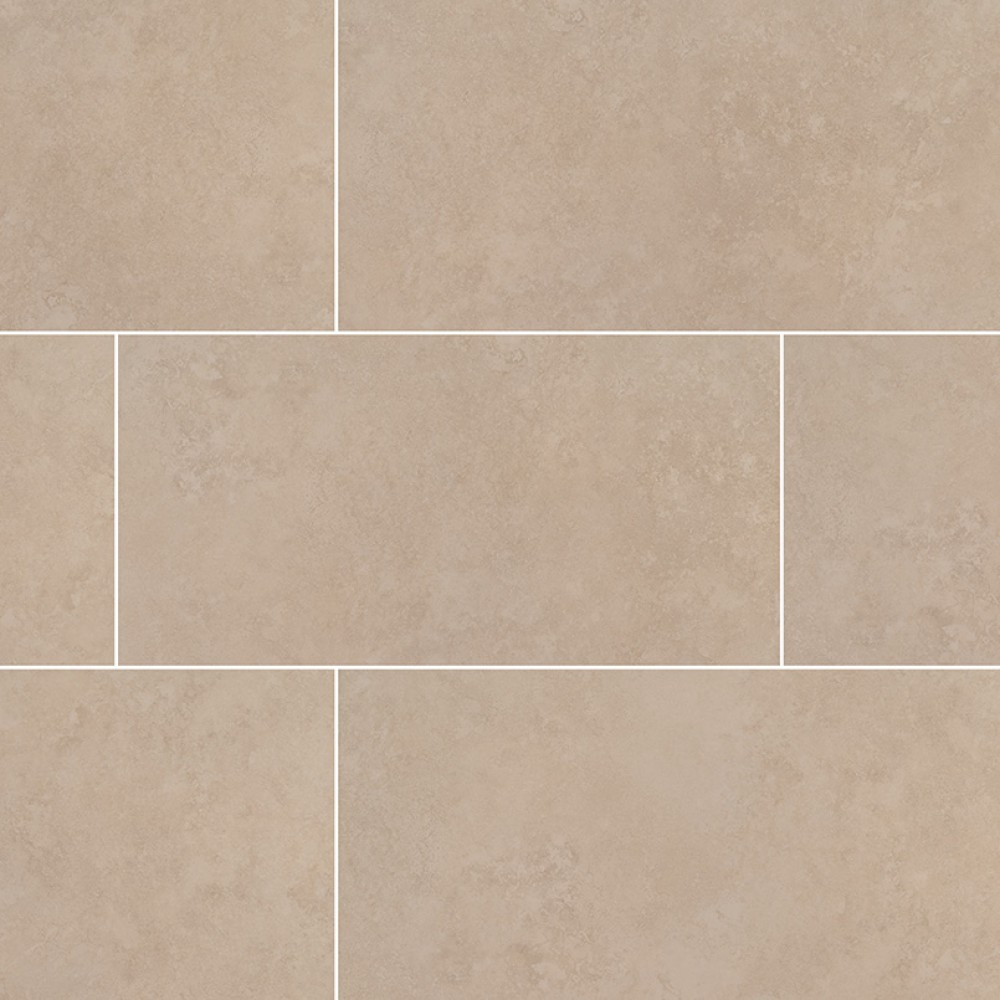 Travertino Beige 24X24 Matte Porcelain Tile