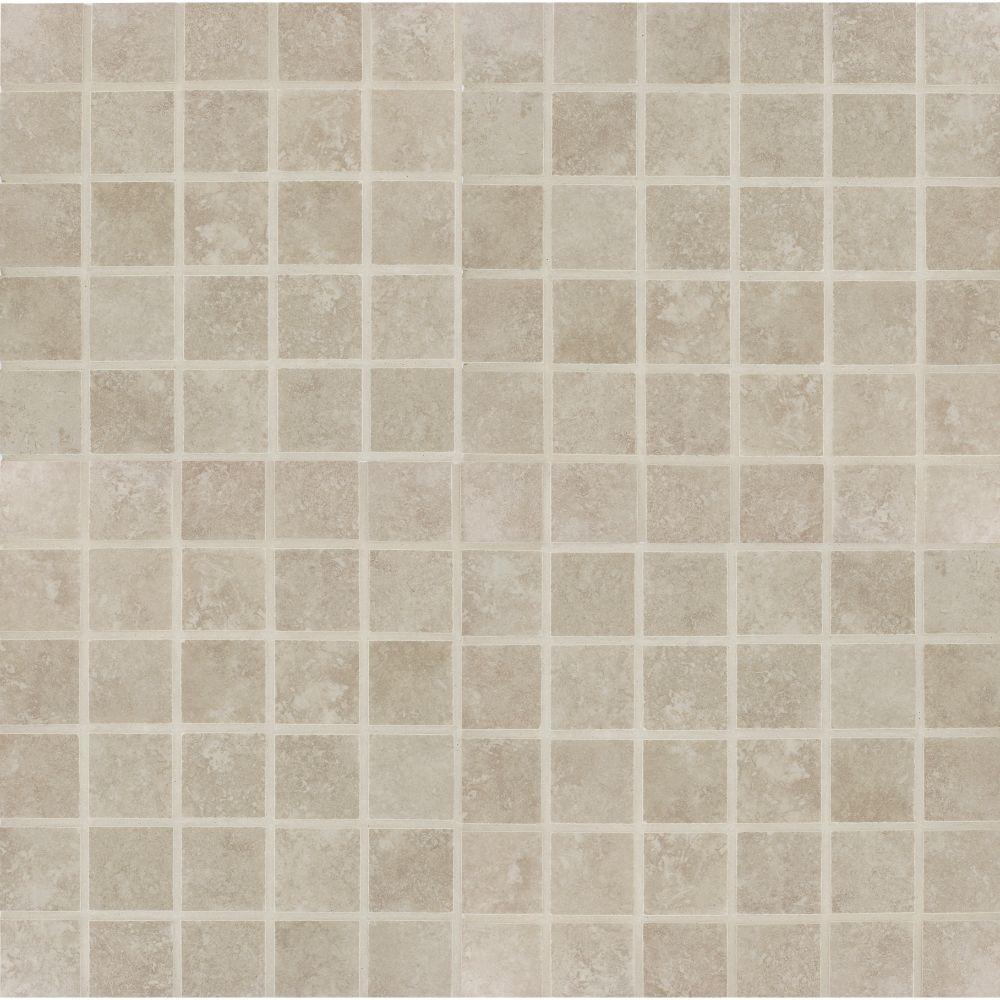 Travertino Beige 2X2 Matte Porcelain Mosaic