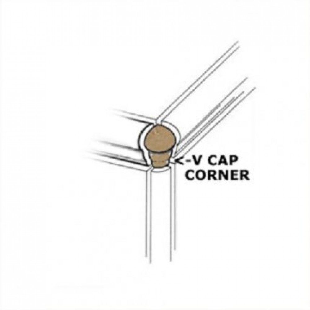 Travertino Beige VCap Corner 1X2.5 Matte