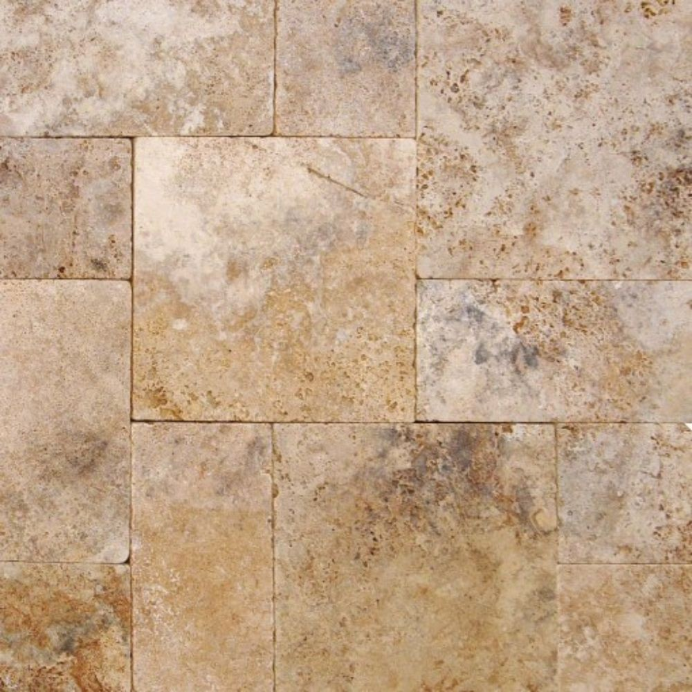 Walnut Rustico 6x12x3cm Tumbled Pavers