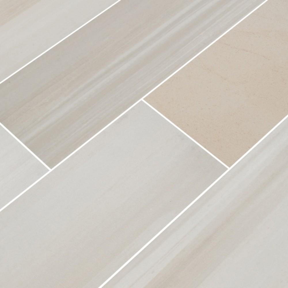Watercolor Bianco 6x36 Matte Porcelain Tile