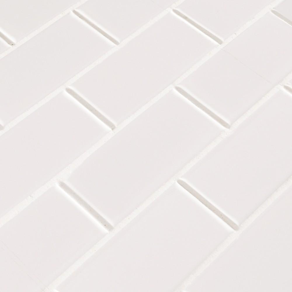 White Hudson 2X4 Staggered Subway Tile